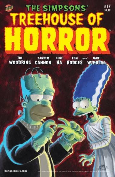 The Simpsons Treehouse of Horror issue 17 cover image