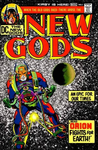 Cover art by Jack Kirby for New Gods #1 (DC Comics).