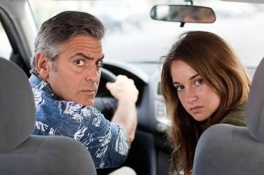 George Clooney and Shailene Woodley in The Descendents movie image