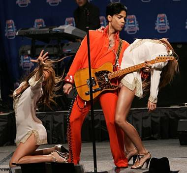 Prince Superbowl 2007 photo.