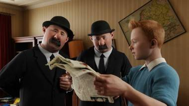 Adventures of Tintin movie image.