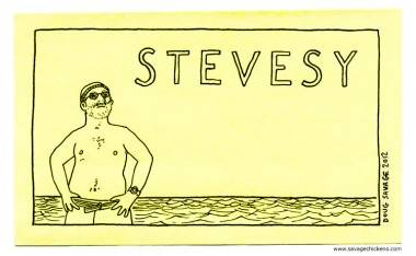 """Stevesy"" illustration by Doug Savage for Bill You Murray Me"