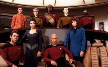 Star Trek: The Next Generation cast photo.
