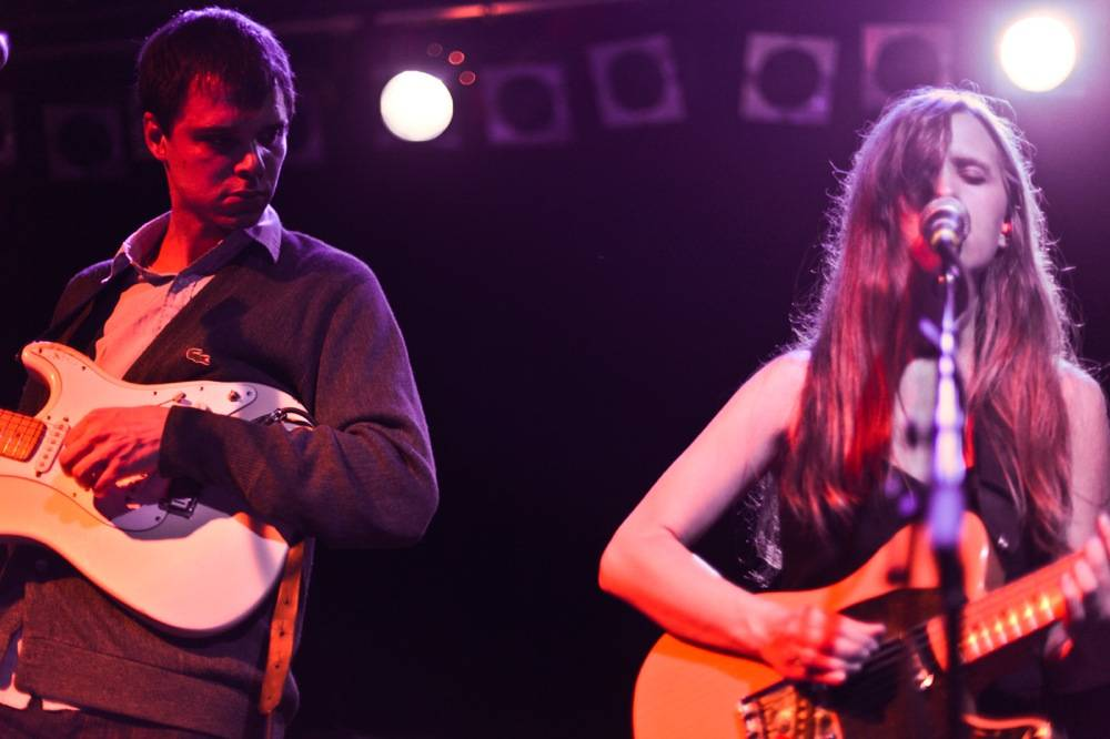 David Longstreth and Amber Coffman with Dirty Projectors photo
