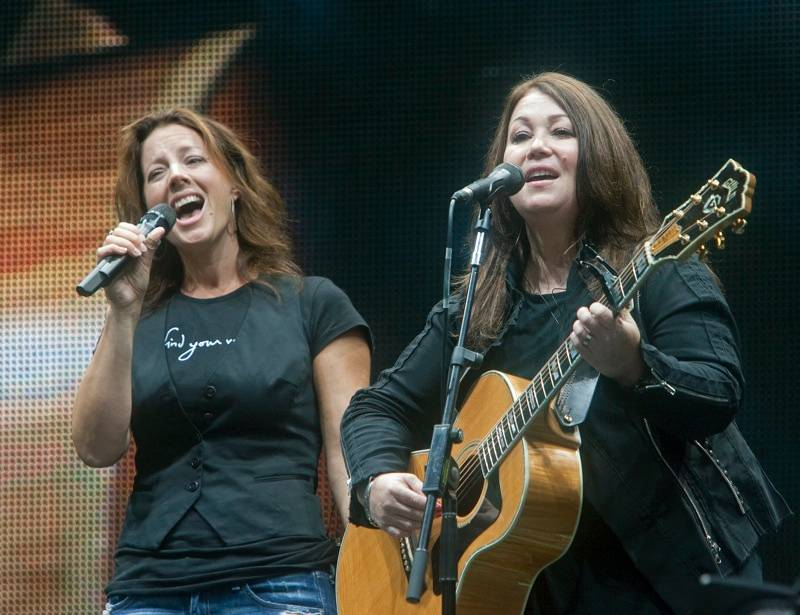Sarah McLachlan and Jann Arden at Voices in the Park