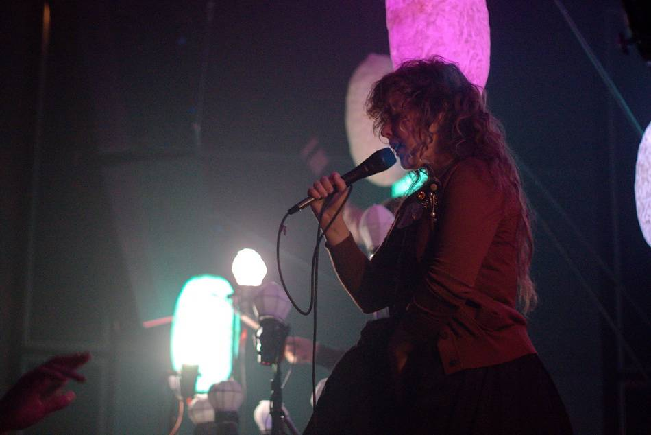 Megan James with Purity Ring at Venue, Vancouver Sept 7 2012 photo