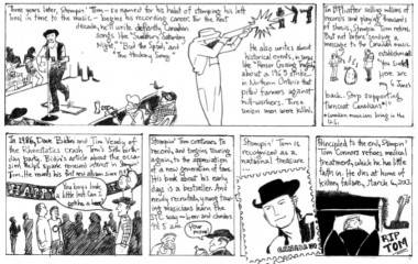 Stompin Tom Connors tribute comic