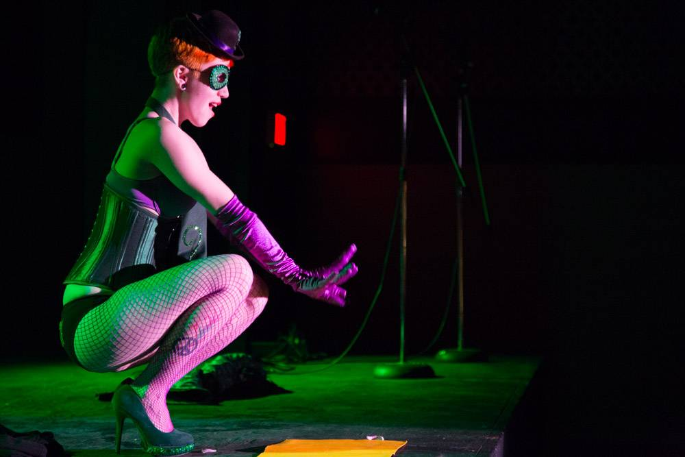 Vintage Comics Burlesque at the WISE Hall Feb 8. Kirk Chantraine photo.