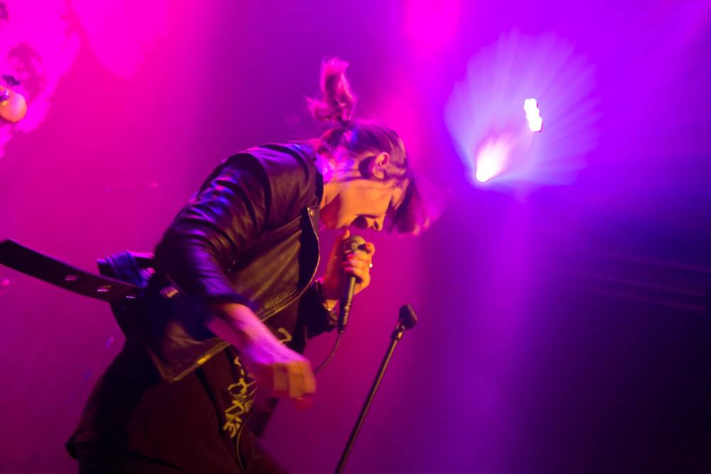 Maja Ivarsson with The Sounds at Venue Vancouver