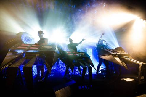 Glitch Mob at the Commodore Ballroom, Vancouver, May 1 2014. Kirk Chantraine photo.