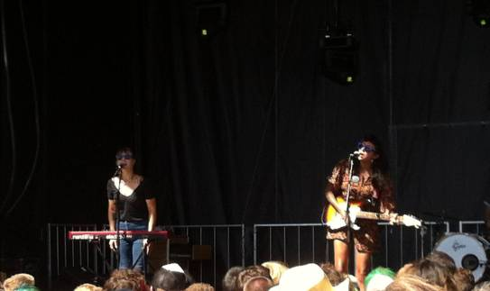 La Luz at the Fountain Lawn Stage at Seattle Centre for Bumbershoot 2014