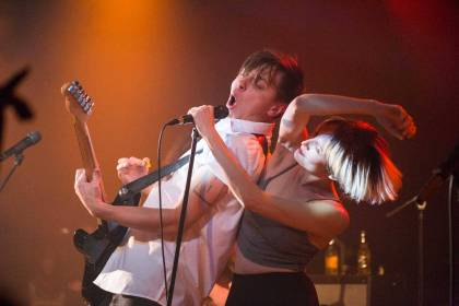 July Talk at the Commodore Ballroom, Vancouver, Oct. 23 2014. Kirk Chantraine photo.