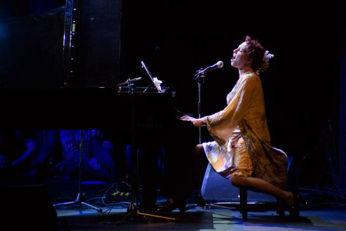 Amanda Palmer and Friends from TED at the Vogue Theatre, Vancouver, Mar. 18  2015. Kirk Chantraine photo.