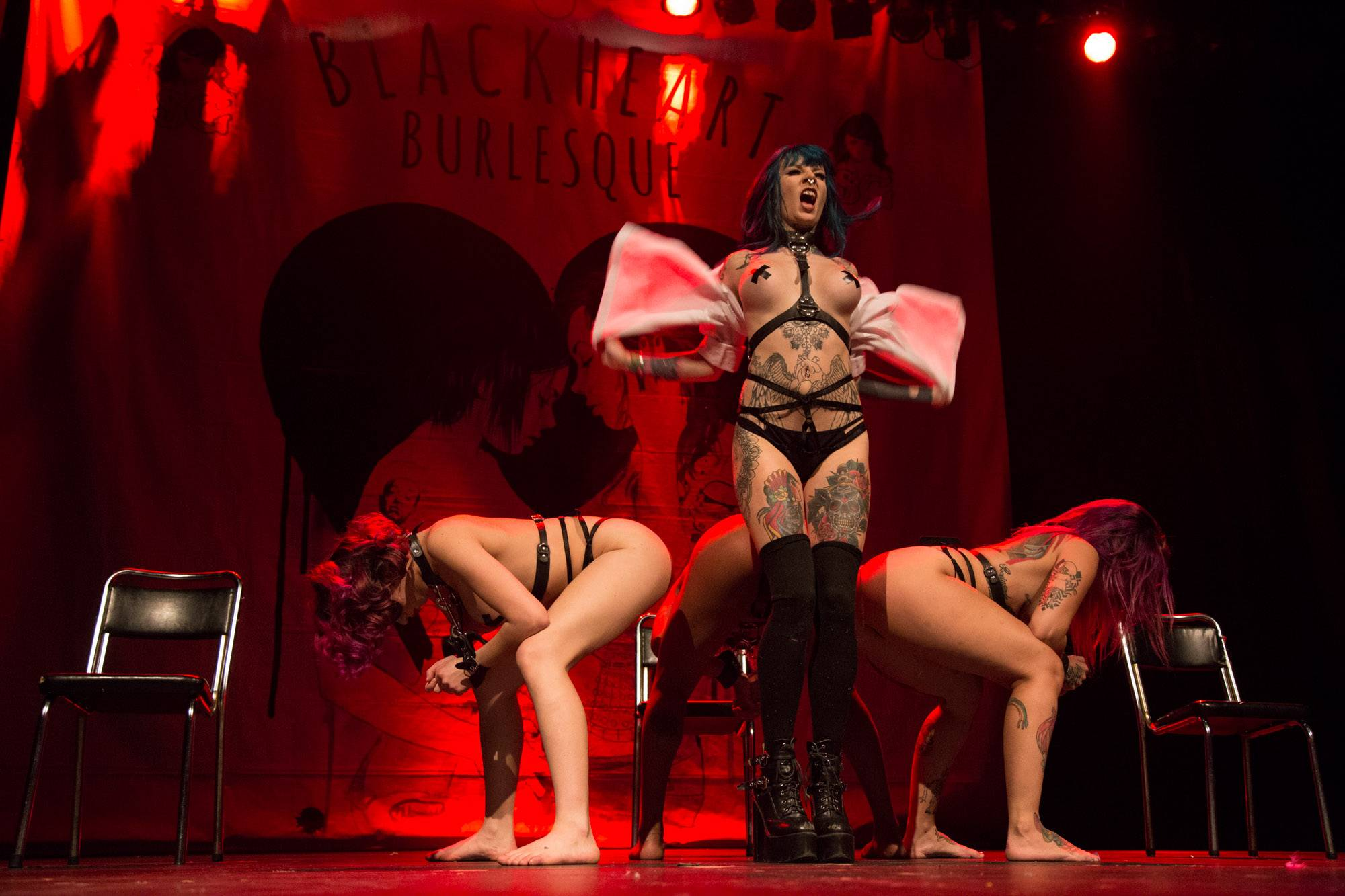 Suicide Girls Blackheart Burlesque at the Vogue Theatre, Vancouver, Apr. 26 2016. Kirk Chantraine photo.