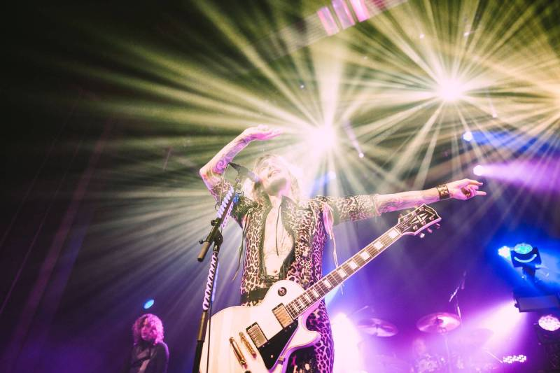The Darkness at the Vogue, Vancouver, April 4 2018. Kelli Anne photo.