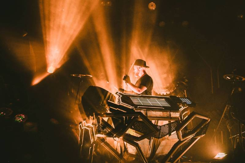 The Glitch Mob at the Vogue Theatre, May 14 2018. Kelli Anne photo.