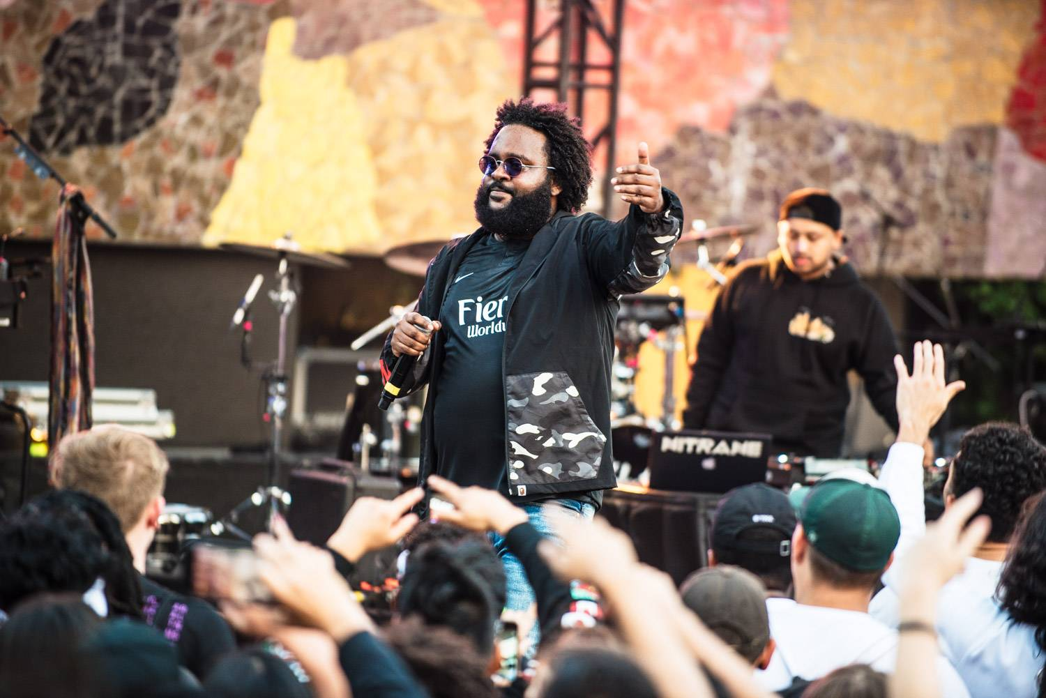 Bas at the Bumbershoot Music Festival 2018 - Day 2. Sept 1 2018. Pavel Boiko photo.