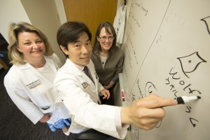 Photo of Dr. Bess Marshall, Dr. Fumi Urano, Dr. Tamara Hershey