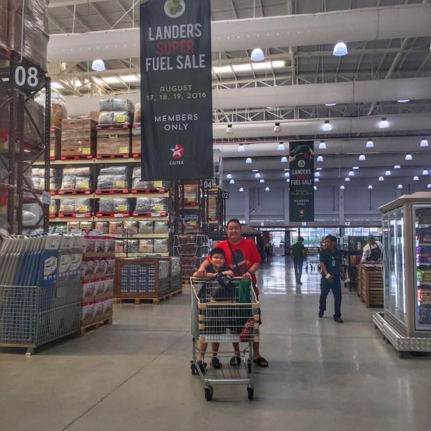 The Ang Sens doing groceries
