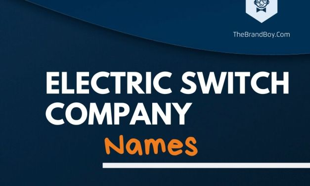 334+ Best Electric Switch Company Names Ideas