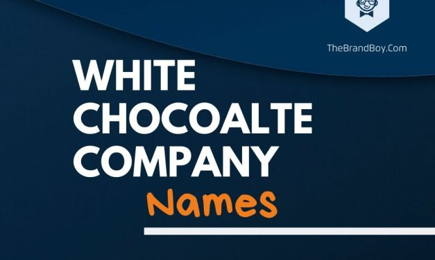 335+ Best White Chocolate Company Names Ideas
