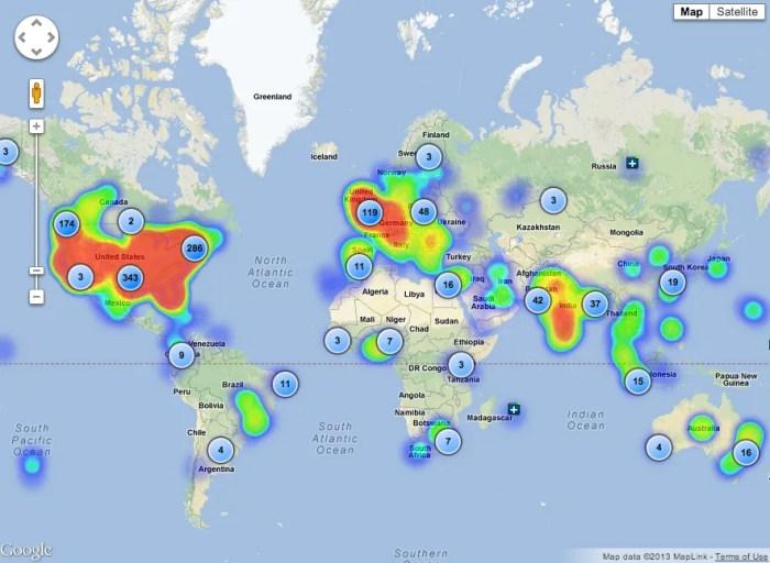 CircleCount Follower Map