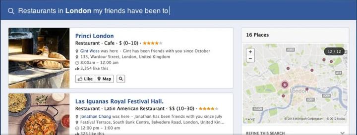 Facebook Graph Search Screenshot