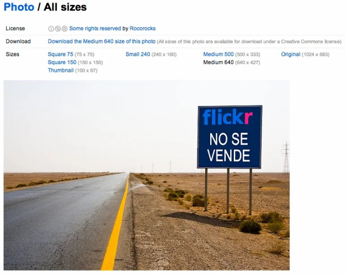 Download images from Flickr for use within your Blog posts.