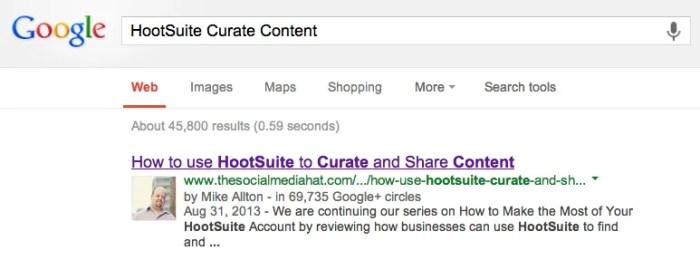 Example of Google Authorship