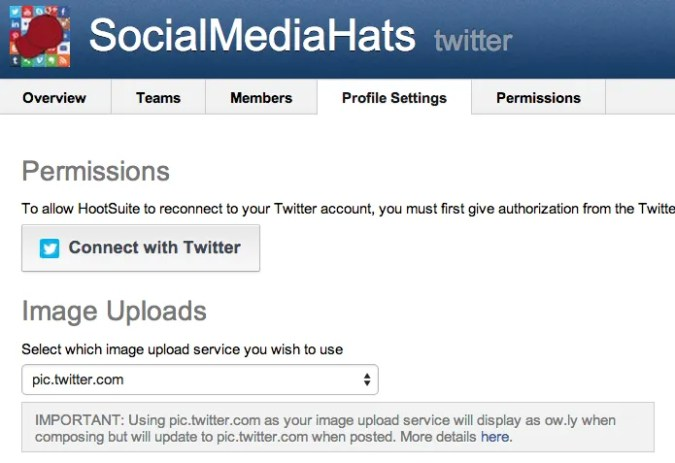 Change your Image Upload option within HootSuite.