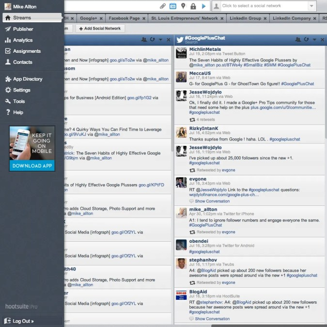 Monitor and Manage Twitter Chats within HootSuite