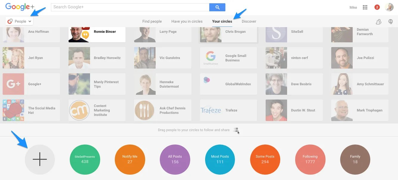 Add a New Google+ Circle for Notifications