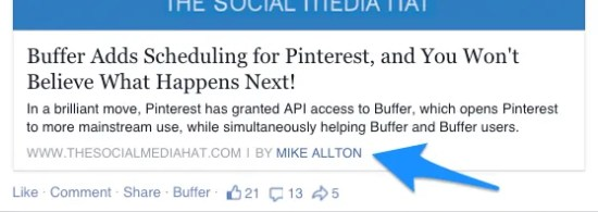 "The ""BY MIKE ALLTON"" byline is automatically added to posts that link to content I've authored."