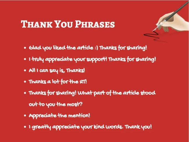 Thank You Phrases