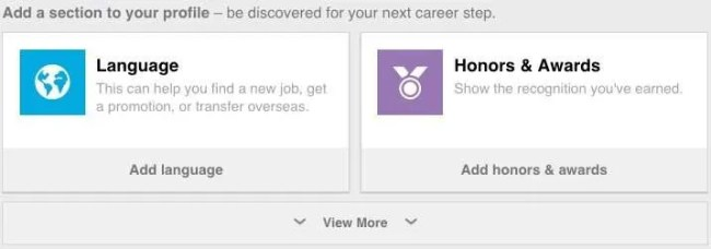 Optimize your LinkedIn profile by following LinkedIn's recommendations.