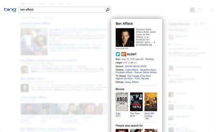 Klout and Bing Integration