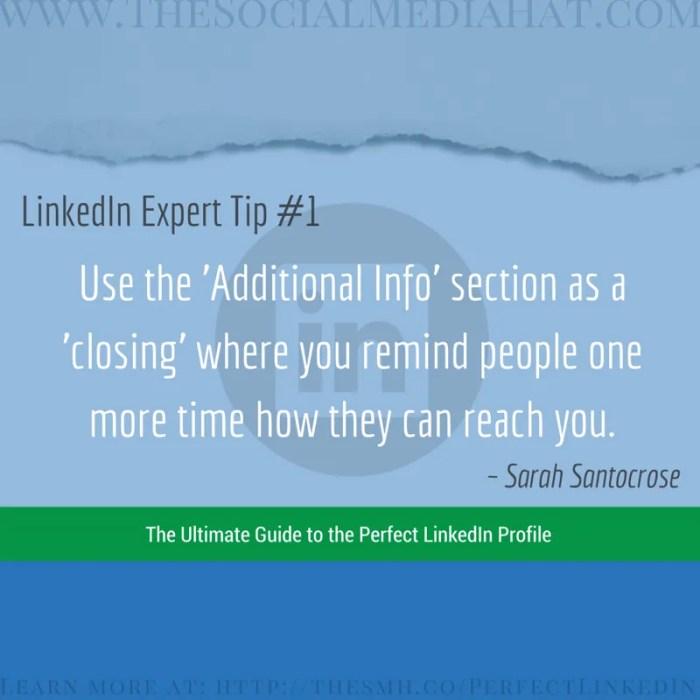 Expert LinkedIn Tip from Sarah Santacroce