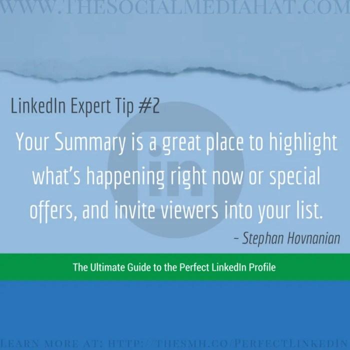 Expert LinkedIn Tip from Stephan Hovnanian