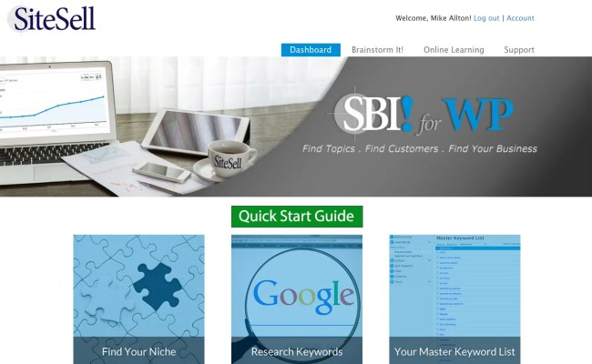 SBI! for WP Dashboard
