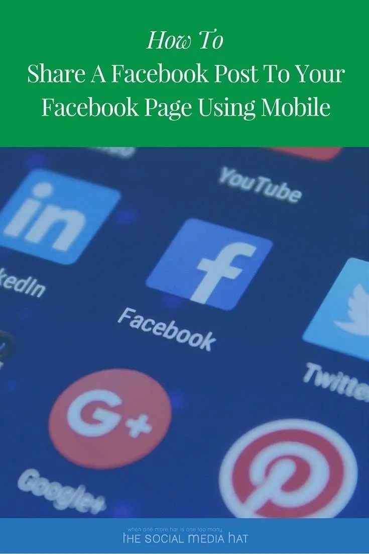 How to Share a Facebook Post to Your Facebook Page On Mobile