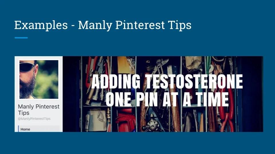 Manly Pinterest Tips