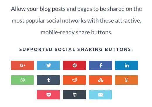 Gorgeous social sharing buttons and features with Social Warfare.