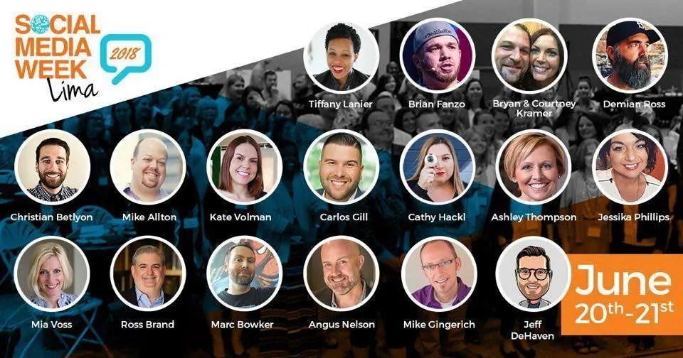 Social Media Week Lima 2018 lineup