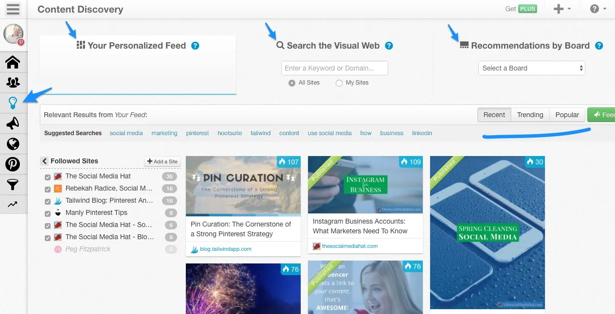 Use Tailwind to find and schedule content from your feeds and the web overall.