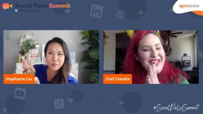 Keynote speaker Stephanie Liu introduced by longtime friend Claudia Sandoval.