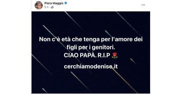 Denise Pipitone, lutto per Piera Maggio: il messaggio della madre della bimba scomparsa a Mazara del Vallo
