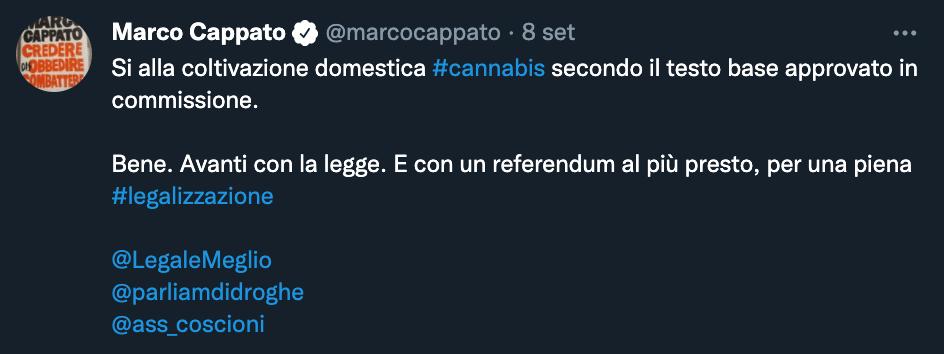 Tweet di Marco Cappato
