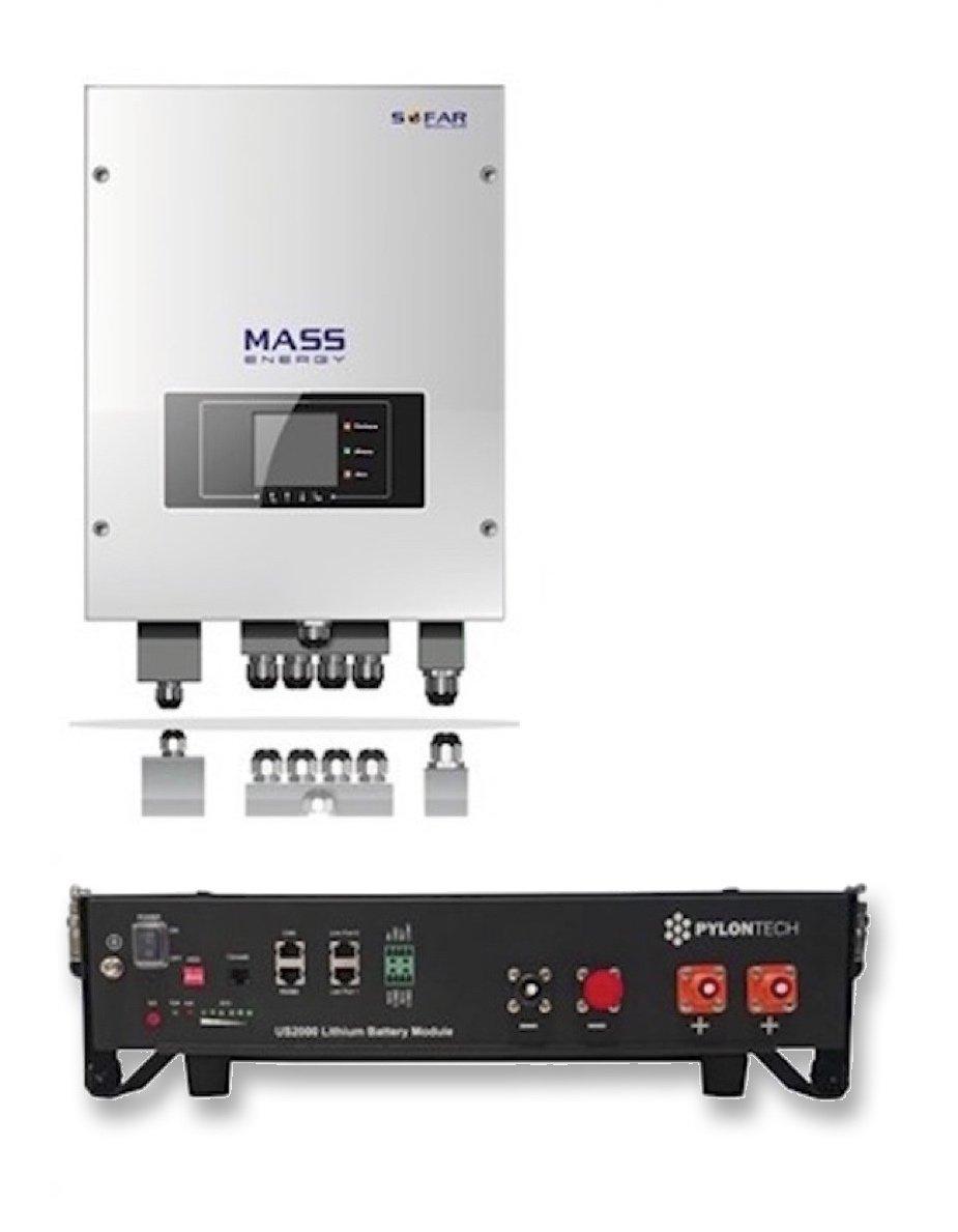 Mass Energy Sofar Solar 2 4 Kwh Pylontech Energy Storage