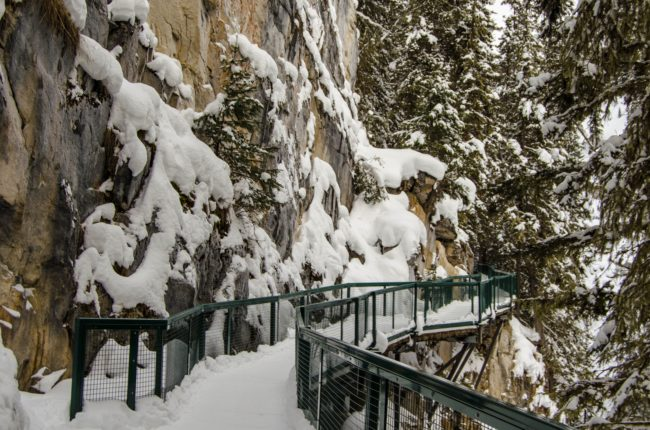 Hiking Johnston Canyon in Winter