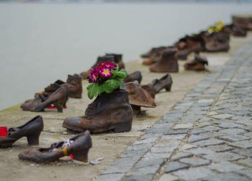 Shoes on the Danube Promenade   Photo Journal: Budapest, a pearl in the Danube   The Solivagant Soul